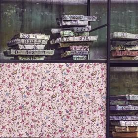 Tissu Fleurs et Oiseaux de Casal. Collection Patrimoine