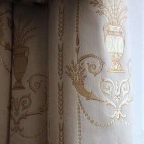 1822 MARIGNAN. Tissu Ameublement aux motifs Empire